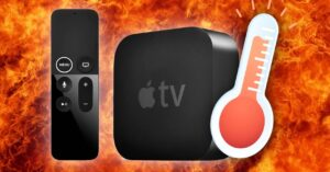 My Apple TV gets very hot, what happens?