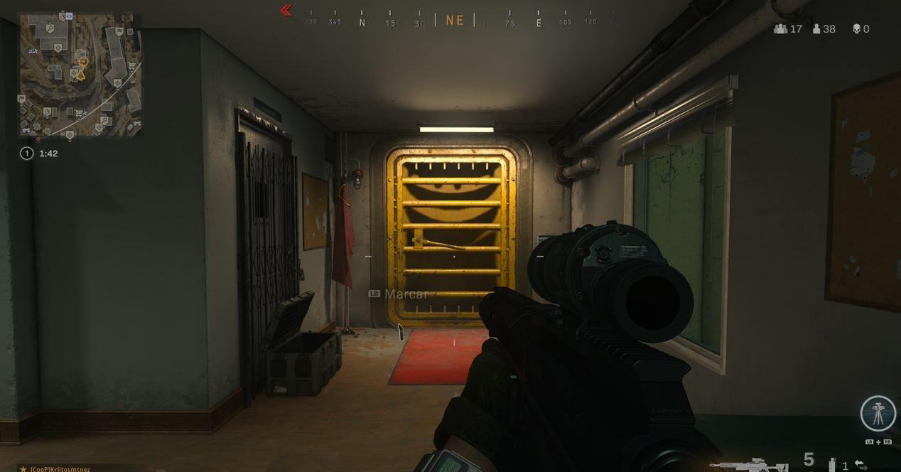 Yellow Warzone Door