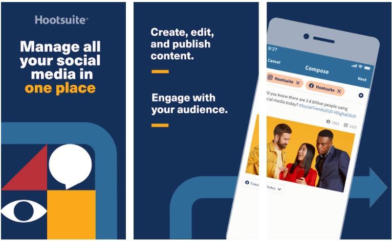 hootsuite apps manage restaurant