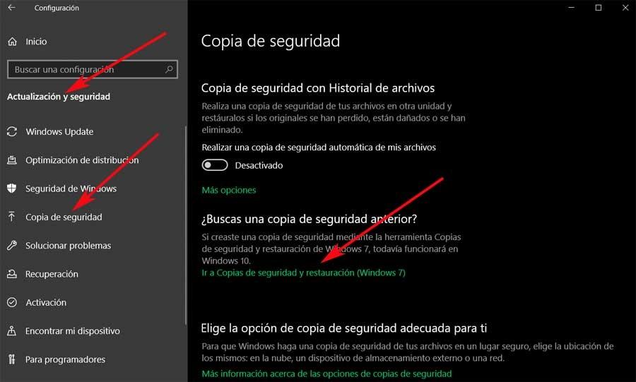 Copy settings