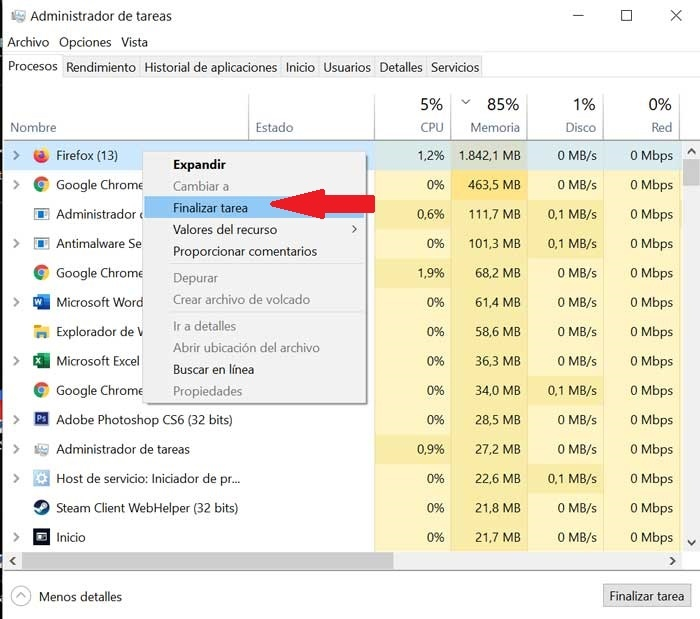Close programs that consume a lot of RAM