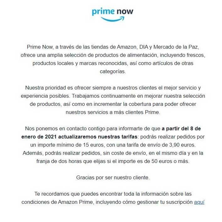 prime now amazon price rise