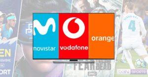 2021 television channels in Movistar, Orange and Vodafone
