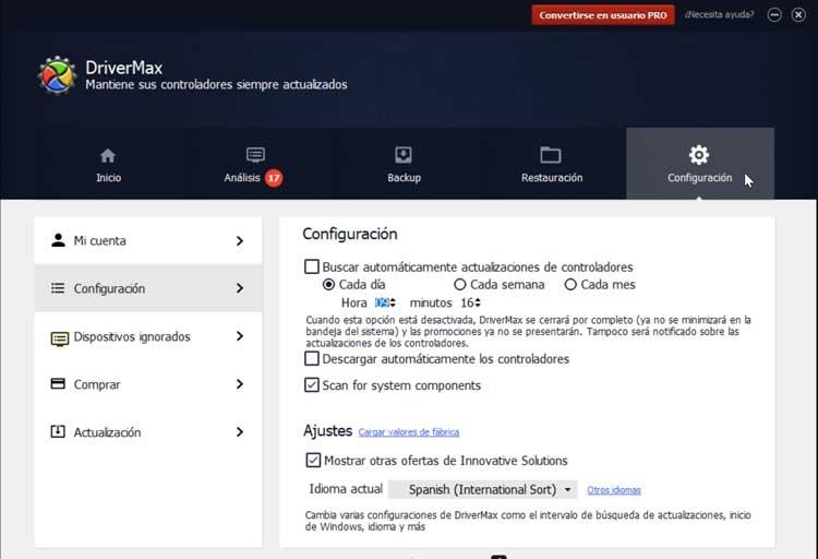 DriverMax Configuration