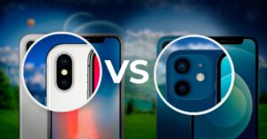 Comparison of photos of iPhone X with iPhone 12: all…