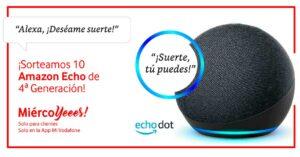 MiercoYes Vodafone January 2020: Amazon Echo speaker giveaway