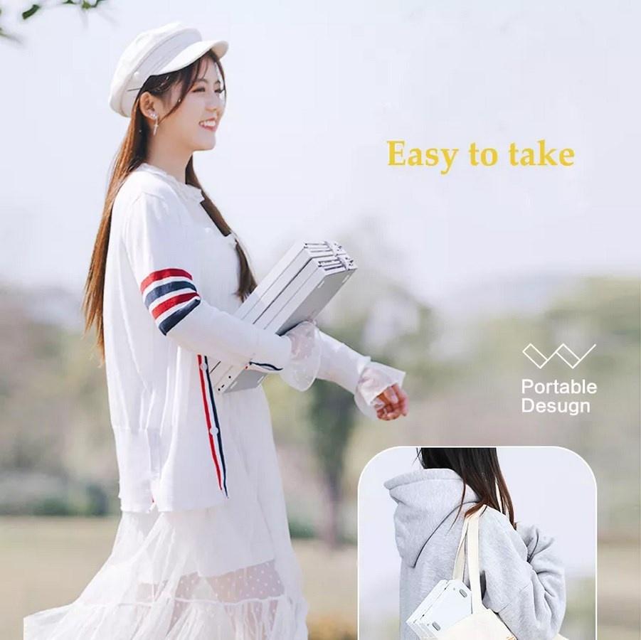 Girl with Xiaomi MIDIPLUS 88 Keyboard