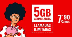 unlimited calls and 5GB for € 7.90 February 2021