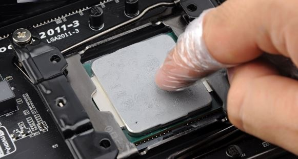 Spread thermal paste