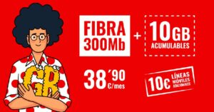 Pepephone reduces the additional lines in Fiber + Mobile 10GB