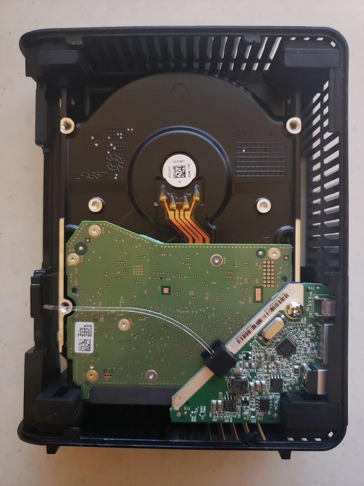 Shucking hard drives