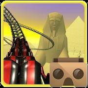 Egyptian pyramids VR roller coaster