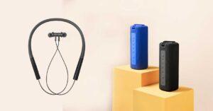 Xiaomi Portable Bluetooth Speaker and Neckband Bluetooth Earphones Pro