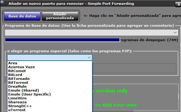 Simple port program list