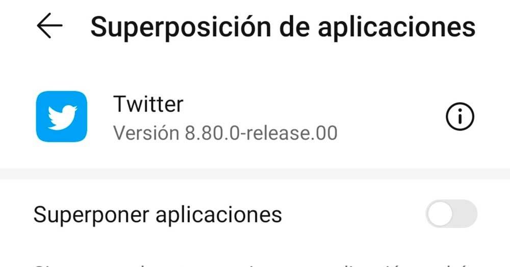 Overlay Twitter apps
