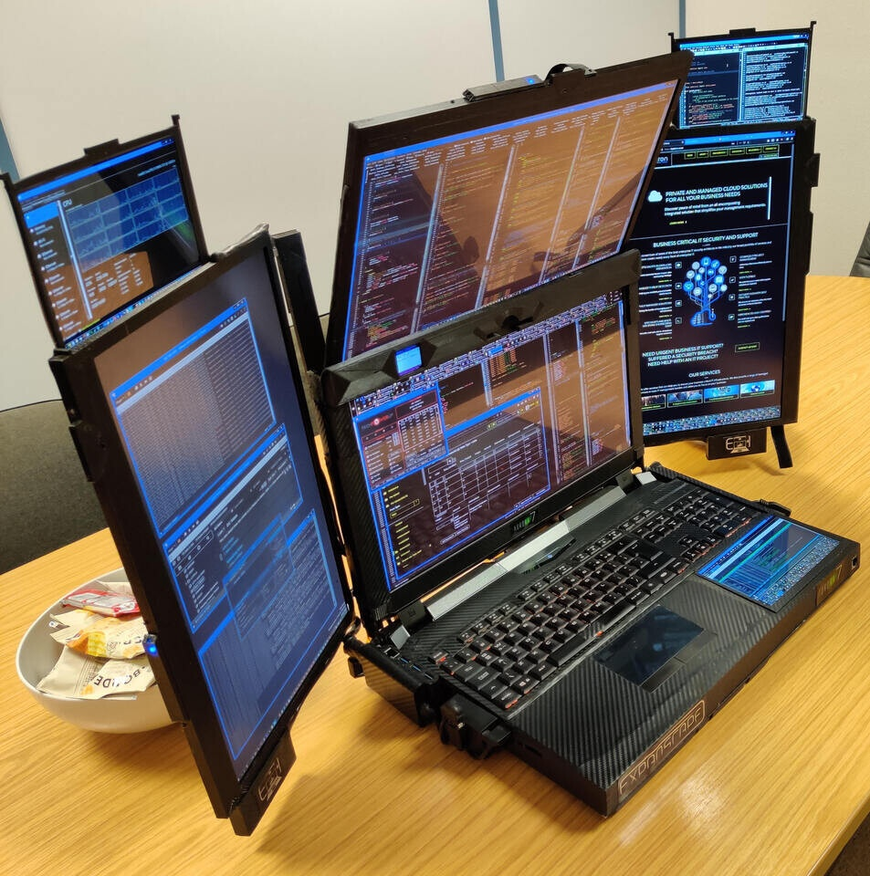 Laptop seven screens