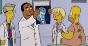 New bender for Dr. Hibbert (The Simpsons) because of his…