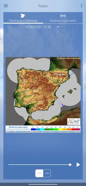 aemet radar weather