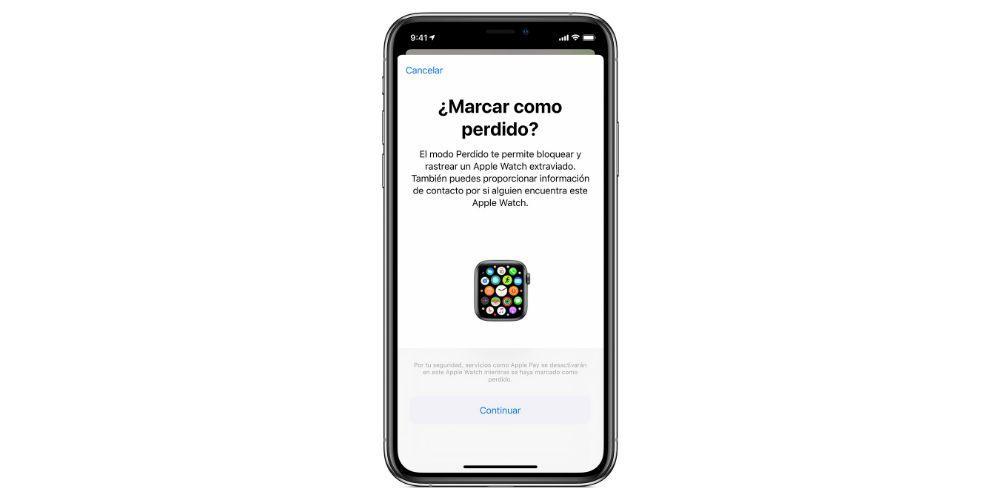 lost mode Apple Watch