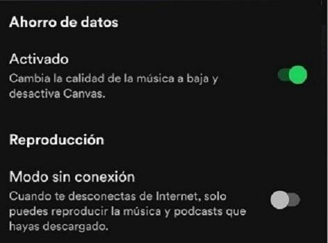 Spotify data saving