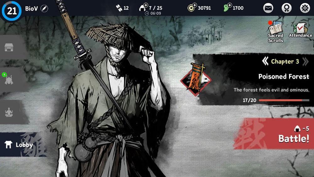 ronin last samurai menu