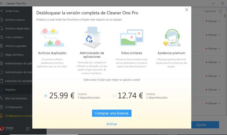 Cleaner One Pro license
