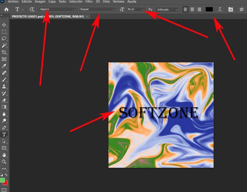Add logo text