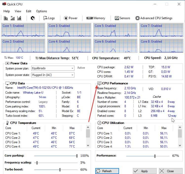 Quick CPU CPU information