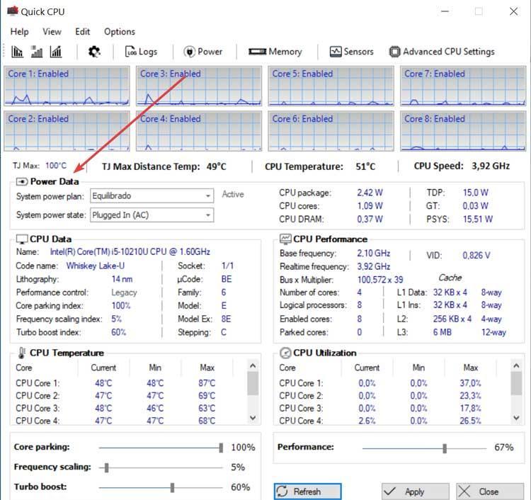 Quick CPU Power Data