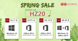 Windows 10 and Office licenses for only 11.26 euros