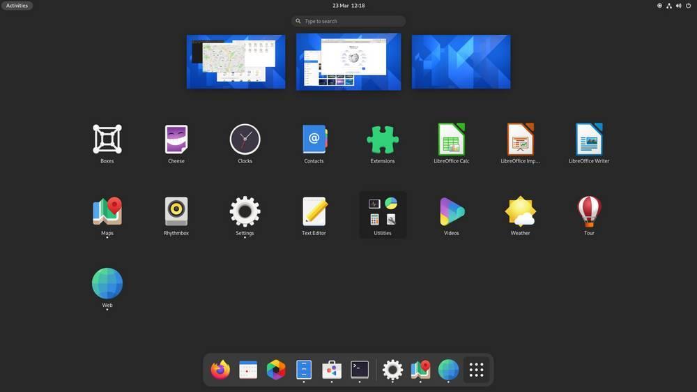 GNOME 40 Launcher