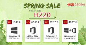 Licenses for Windows 10 and Office with a great price