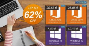 Buy cheap Windows 10 and Office in GoDeal24 offers