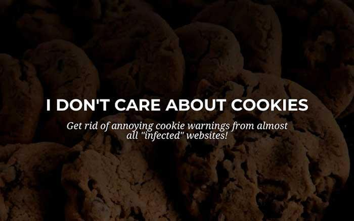 I dont care about cookies