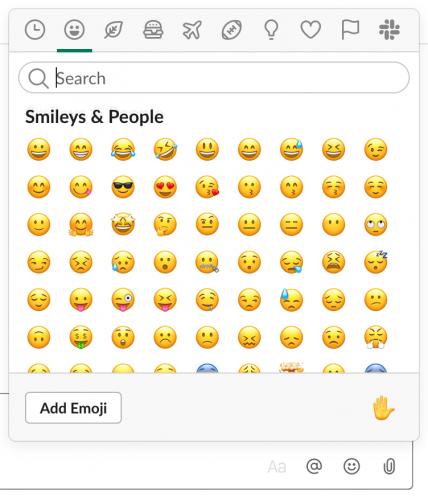 Emojis PC Slack