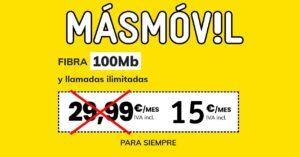 MásMóvil launches the MASsolidaria fiber rate for 15 euros per…