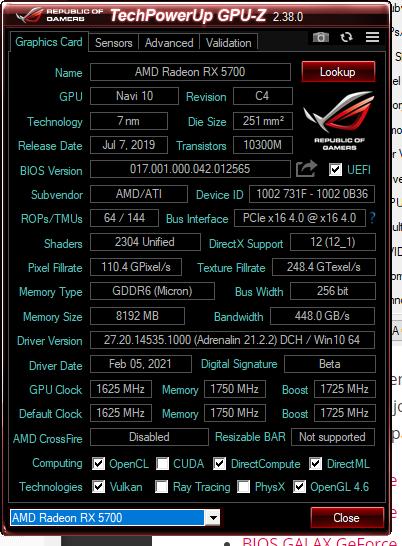 GPU-Z Resizable BAR