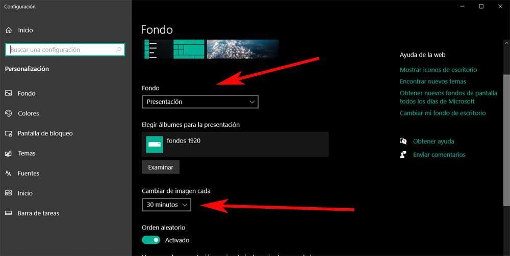 Customize screen