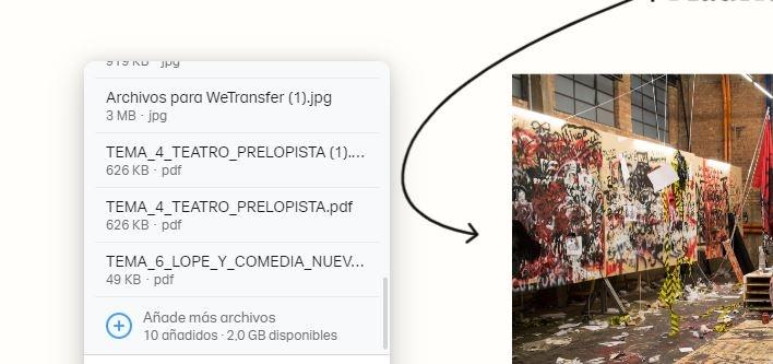 WeTransfer files