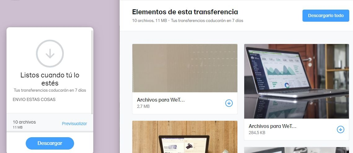 Wetransfer Preview