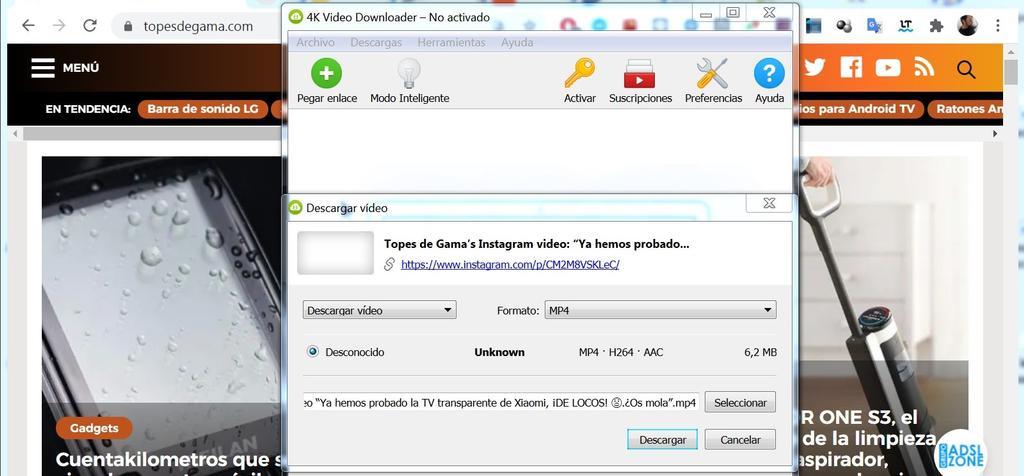 4K Downloader download process