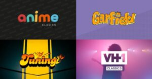 Classic Anime, Garfield, Tuning and VH1 Classics channels May Pluto…