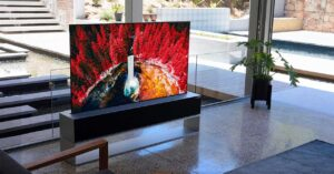 price in Spain of the roll-up Smart TV