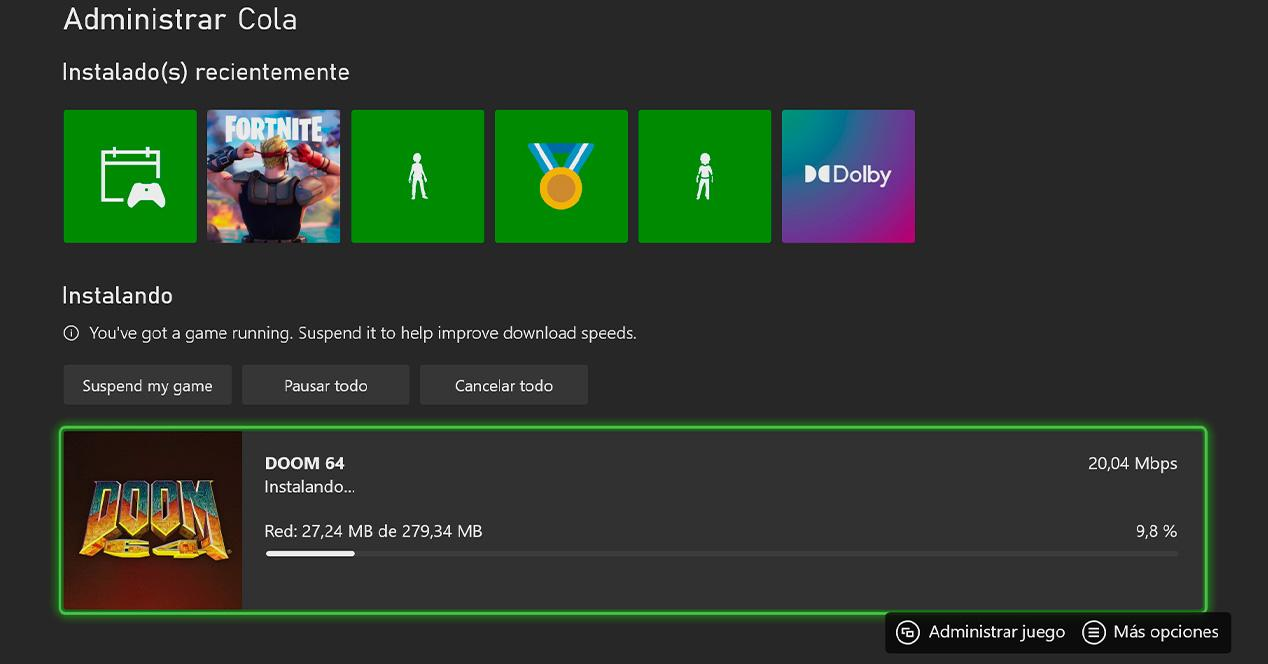 Xbox download speed