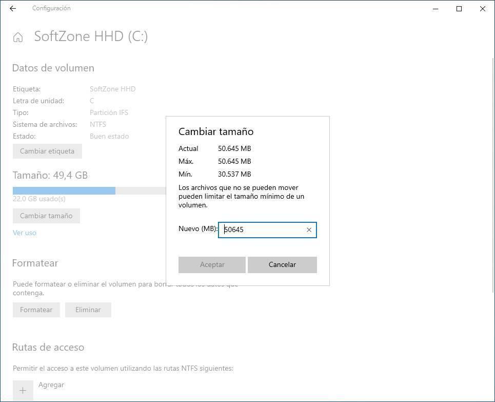 resize Windows Disk Manager 6