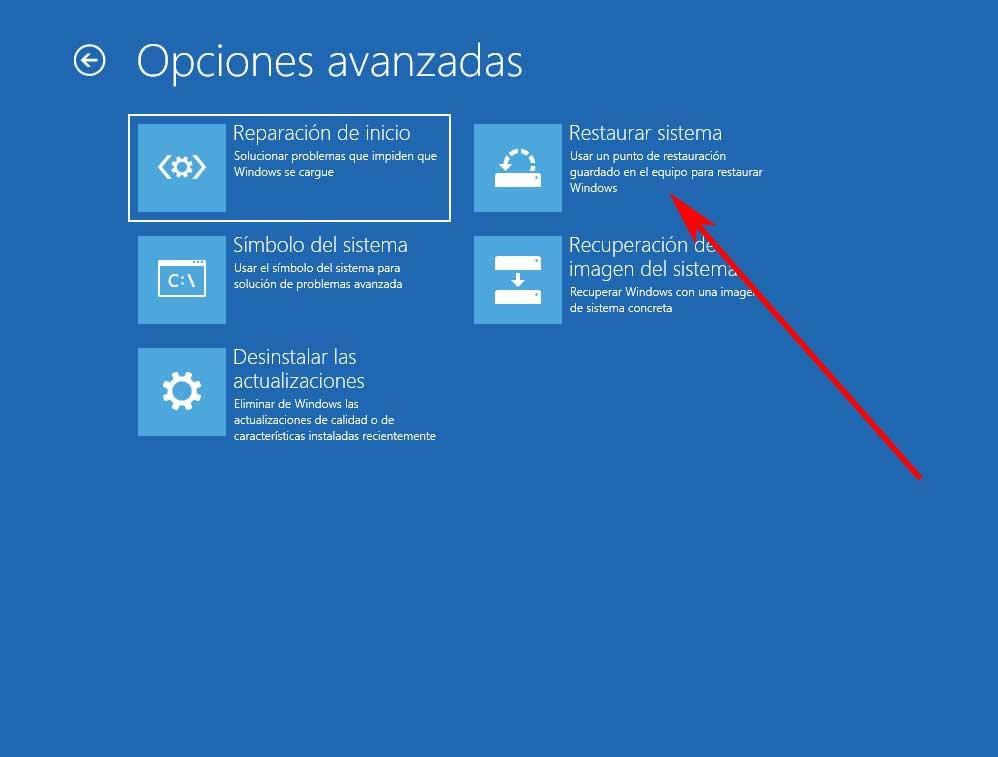 Windows restore point