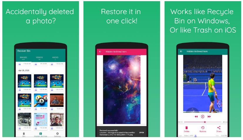 recover bin apps free week 22