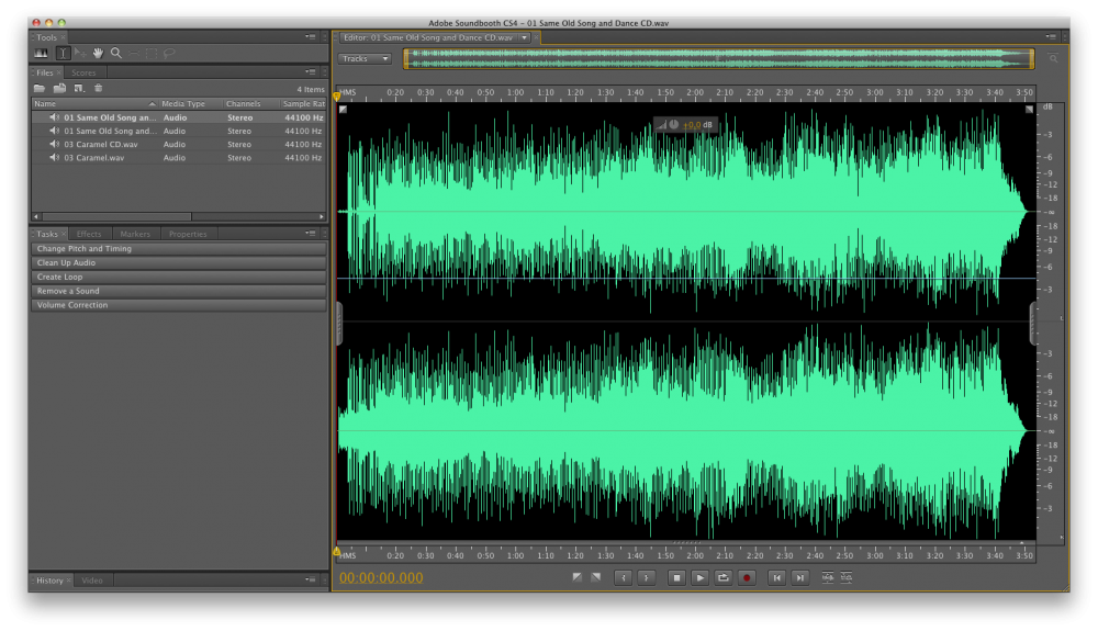 WAV and FLAC waves for Hi-Res