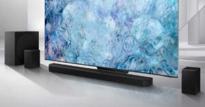 the first 11.1.4 soundbar with Dolby Atmos