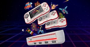 The retro cartridge console with HDMI output